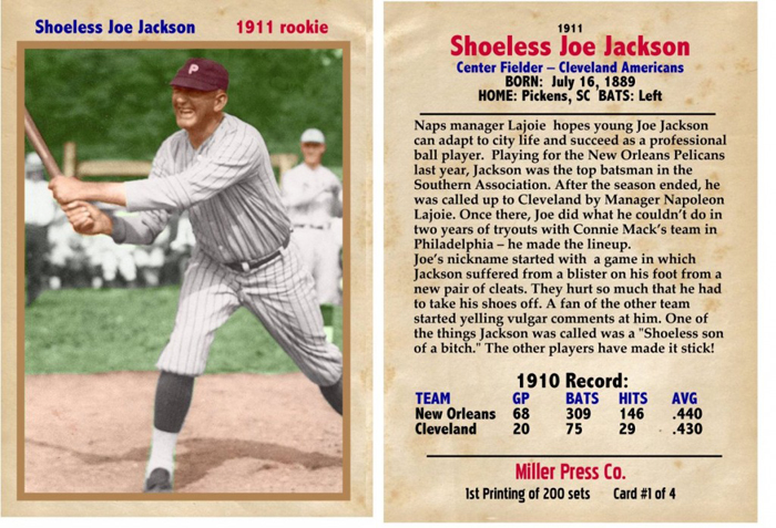 Shoeless Joe Jackson Virtual Hall Of Fame Shoeless Joe